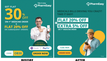 PharmEasy Flat 20% off + Additional 20% cashback upto Rs.600 on your 1st medicine order + Flat Rs.150 instant discount