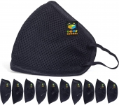 10 Pieces Reusable Masks Black