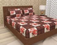 120 TC Microfiber Double Floral Bedsheet