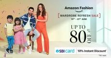 Amazon Fashion Wardrobe Refresh Sale Loot Offer : sale offer Get 80% off + SBI Discount
