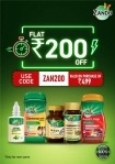 Zandu Care : FLAT Rs.200 OFF on minimum purchase of Rs.499.