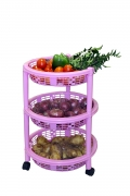 3 Rack Big Trolley, Pink AT 189 MRP 437