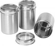 Stainless Steel Canister Set of 3 Upto 60%  Off