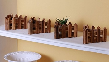 Fourwalls Artificial Wooden Pot, Set of 4, Upto 55% Off
