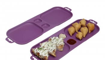 Best Offer in SIMPARTE Unbreakable Plastic Serving Tray, Set of 2