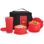Latest Offer on Cello Max Fresh Lunch Box Set, 4-Pieces