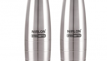 Latest Offer on Nirlon Stainless Steel Water Bottle (pack of 2)
