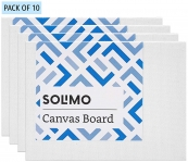 Best offer on Solimo Cotton Canvas Board, Set of 10, 60% Off