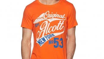 Alcott Men's Printed Slim Fit T-Shirt at at 159