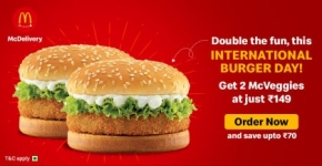 McDelivery: 2 McVeggie burger for Rs. 149