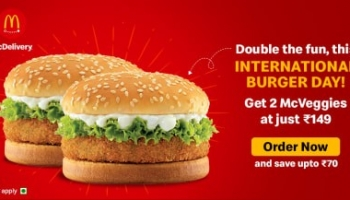 McDelivery : 2 McVeggie burger for Rs. 149