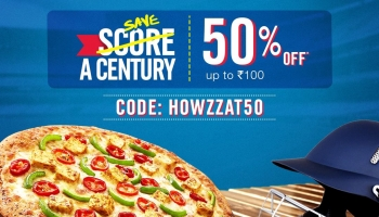 Domino's : 40% off upto Rs. 100