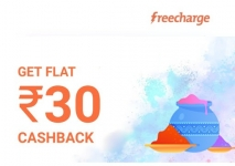 Freecharge : Flat Rs.30 Cashback on airtel Recharge of Rs.199