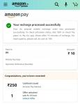 Amazon recharge bug, get 250 Cashback