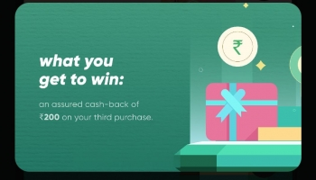Cred loot tmc offer : 1st Purchase with Cred Coins upto 90% off + Buy 3 Times & Get Assured Rs.200 Cashback