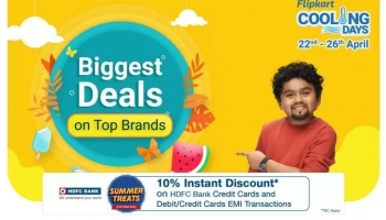 Flipkart : Cooling Days 22nd – 25th May