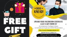 Get Free Gift loot : uploading Covid Vaccination Certificate on thebakersdozen