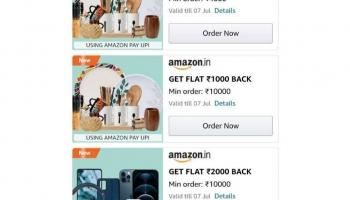 Amazon upi Offer loot : get upto 5000 Cashback