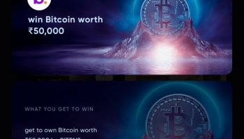 Cred bitcoin offer : Win bitcoin worth ₹50,000 by BITBNS