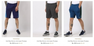 Offer 90% off Ajio Summer Special : Shorts & Three Fourths Starting 199