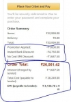 Amazon loot offer : get extra 4750 discount on tv from 1000