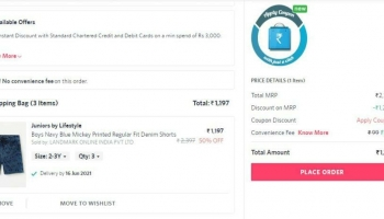 Myntra loot deal : buy 1 get 1 free