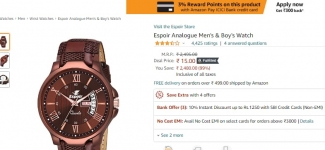 Big loot – watch 99% off on Amazon from 1 rs