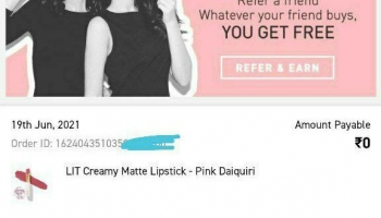 Myglamm free Loot : Get Rs.595 Lipstick Free from Myglamm