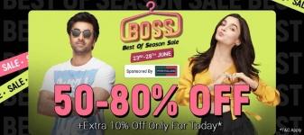 Flipkart boss sale offer : boss Of Season Sale offer 90% off  on top Brands