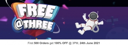 Firstcry loot : Free at Three – First 500 Orders Free.