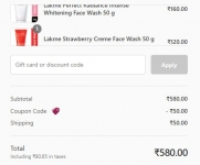 Lakme LOOT Sale : Add 3 Face sheet mask and get 2 free + Add 2 face wash at 580