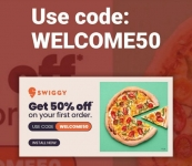 Swiggy loot offer : 50% off on all orders