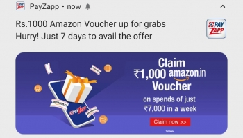 Payzapp deal today : Get 1000Rs free Amazon voucher