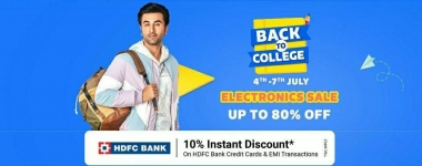 Best offers on Back To College Days Flipkart (4th – 7th July )