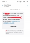 Check Coolwinks sending Rs.1000 code to some old user.