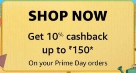 Amazon Prime Day Special : Unlock Coupon for 10% Cashback ₹150