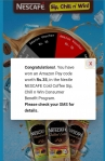 Nescafe loot : Win up to Rs.500 Amazon pay GV, JBL flip etc.