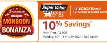 Amazon Super Value Days ( 30th – 1st August ) loot offers