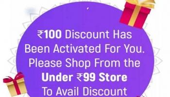 Flipkart Loot 100 Rs off on all item