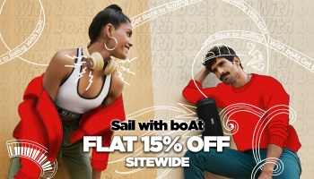 boAt  : Flat 15% Off On Sitewide