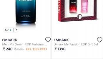 Loot from Myntra : 90% off on Perfume