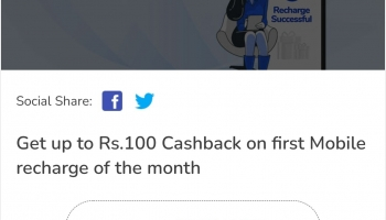 Mobikwik Offer today : Get Upto Rs.100 Off On Minimum recharge Of Rs.100.