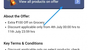Super coins loot offer today Extra 100 Off on Grocery with 50 super coins