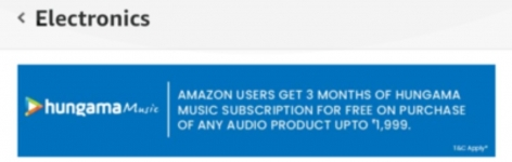Get Free subscription on Hungama Music from Amazon