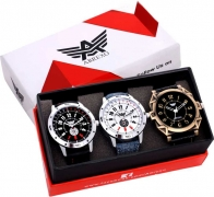Abx8010-Gents Exclusive Designer Combo Analog Watch