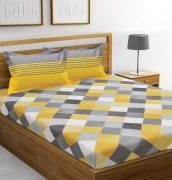 Ahmedabad Cotton Double Bedsheet with 2 Pillow Covers
