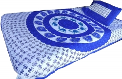 JAIPUR PRINTS Cotton Single Bedsheet with Pillow Cover
