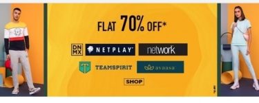 AJIO : Flat 70% off on ₹1490 and Above
