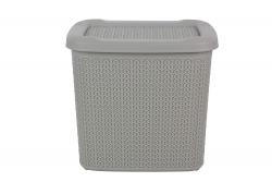 All Time Cresta Knit PPHP-Plastic Basket with Lid