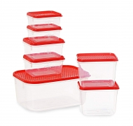 All Time Plastics Polka Container Set, 7-Pieces